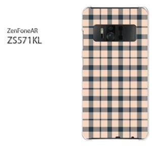 ゆうパケ送料無料スマホケース ハード ZenFoneAR ZS571KL クリア チェック(ピンク)/zs571kl-pc-new0865]