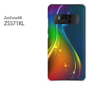 ゆうパケ送料無料スマホケース ハード ZenFoneAR ZS571KL クリア シンプル・キラキラ(ブルー)/zs571kl-pc-new1459]