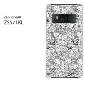ゆうパケ送料無料スマホケース ハード ZenFoneAR ZS571KL クリア レース(黒)/zs571kl-pc-new1898]