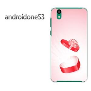 ゆうパケ送料無料スマホケース ハード android One S3 クリア [ハート(ピンク))/androidones3-pc-new0599]