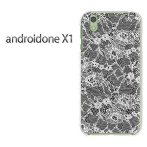 ゆうパケ送料無料スマホケース ハード android One X1 クリア 【レース1(黒)/androidonex1-M779】