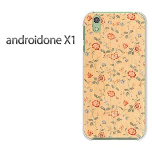 DM便送料無料スマホケース ハード android One X1 クリア [花(赤)/androidonex1-pc-new0198]