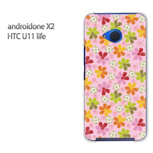 ゆうパケ送料無料 スマホケース ハード android One X2 クリア 【フラワー042/androidonex2-PM042】