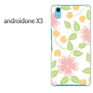 ゆうパケ送料無料スマホケース ハード android One X3 クリア [花(ピンク・グリーン)/androidonex3-pc-new0091]