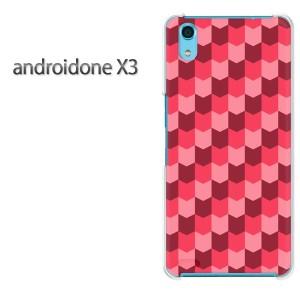 ゆうパケ送料無料スマホケース ハード android One X3 クリア [チェック(赤)/androidonex3-pc-new0861]