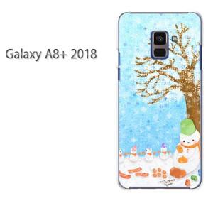 ゆうパケ送料無料 スマホケース galaxya8plus クリア 【雪だるま(C)/galaxya8plus-M715】