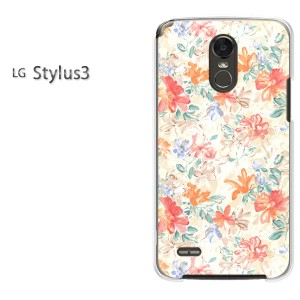 ゆうパケ送料無料スマホケース ハード LG Stylus3 クリア 【花柄(F)/stylus3-M923】