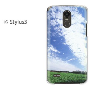 ゆうパケ送料無料スマホケース ハード LG Stylus3 クリア 空・シンプル(ブルー)/stylus3-pc-new0183]