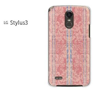 ゆうパケ送料無料スマホケース ハード LG Stylus3 クリア シンプル(赤)/stylus3-pc-new0455]