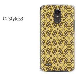 ゆうパケ送料無料スマホケース ハード LG Stylus3 クリア 和柄(ブラウン)/stylus3-pc-new1216]