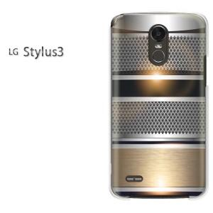 ゆうパケ送料無料スマホケース ハード LG Stylus3 クリア シンプル・メタル(シルバー)/stylus3-pc-new1365]