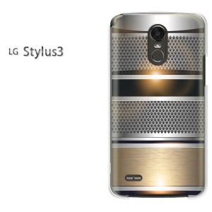 DM便送料無料スマホケース ハード LG Stylus3 クリア [シンプル・メタル(シルバー)/stylus3-pc-new1365]