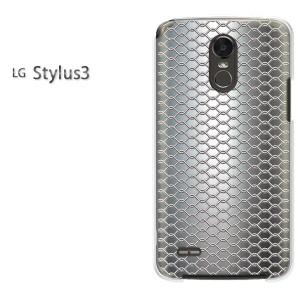 ゆうパケ送料無料スマホケース ハード LG Stylus3 クリア シンプル・メタル(シルバー)/stylus3-pc-new1367]