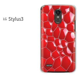 DM便送料無料スマホケース ハード LG Stylus3 クリア [星・キラキラ(ピンク)/stylus3-pc-new1372]