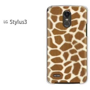 ゆうパケ送料無料スマホケース ハード LG Stylus3 クリア キリン・動物(ブラウン)/stylus3-pc-new1852]
