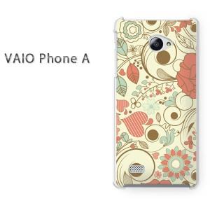 ゆうパケ送料無料スマホケース ハード VAIO Phone A クリア  花・ハート(ピンク)/vaiophonea-pc-ne092]