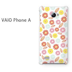 ゆうパケ送料無料スマホケース ハード VAIO Phone A クリア 花(ピンク)/vaiophonea-pc-new1048]