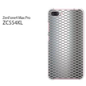 ゆうパケ送料無料スマホケース ハード ZenFone4 MAX Pro ZC554KL クリア [シンプル・メタル(シルバー)/zc554kl-pc-new1367]
