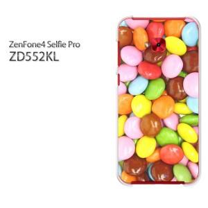 ゆうパケ送料無料スマホケース ハード ZenFone4 Selfie Pro ZD552KL クリア  スイーツ・マーブルチョコ(ブラウン)/zd552kl-pc-ne186]