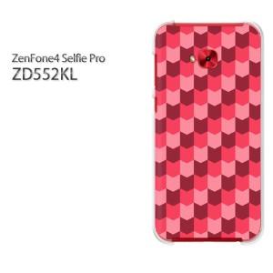 ゆうパケ送料無料スマホケース ハード ZenFone4 Selfie Pro ZD552KL クリア [チェック(赤)/zd552kl-pc-new0861]