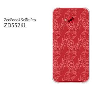 ゆうパケ送料無料スマホケース ハード ZenFone4 Selfie Pro ZD552KL クリア [和柄(赤)/zd552kl-pc-new1273]