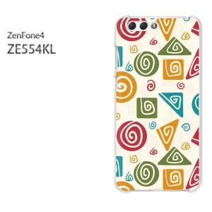 ゆうパケ送料無料スマホケース ハード ZenFone4 ZE554KL クリア [シンプル(ベージュ)/ze554kl-pc-new1095]