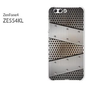 ゆうパケ送料無料スマホケース ハード ZenFone4 ZE554KL クリア [シンプル・メタル(シルバー)/ze554kl-pc-new1366]