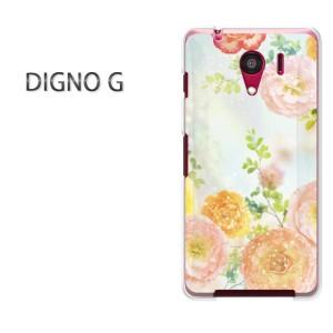 ゆうパケ送料無料スマホケース ハード DIGNO G クリア 花(ピンク)/dignog-pc-new0409]