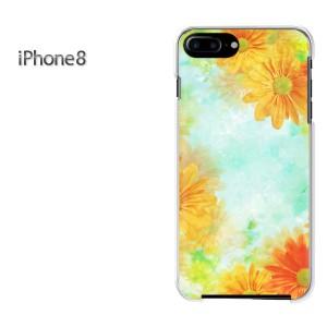iPhone8 iphone8 ケース ハードカバー プリント ゆうパケ送料無料 クリア 【ガーベラ(A)/i8-M946】
