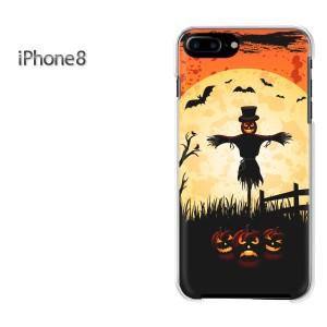 iPhone8 iphone8 ケース ハードカバー プリント ゆうパケ送料無料 クリア  ハロウィン(オレンジ)/i8-pc-ne067]
