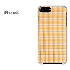 iPhone8 iphone8 ケース ハードカバー プリント ゆうパケ送料無料 クリア チェック(ベージュ)/i8-pc-new0285]