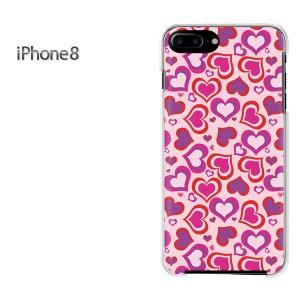 iPhone8 iphone8 ケース ハードカバー プリント ゆうパケ送料無料 クリア 【ハート028/i8-PM028】