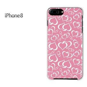 iPhone8 iphone8 ケース ハードカバー プリント ゆうパケ送料無料 クリア 【ハート029/i8-PM029】
