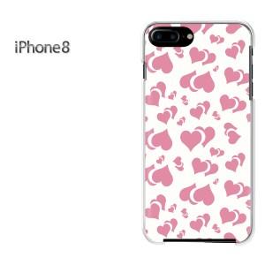 iPhone8 iphone8 ケース ハードカバー プリント ゆうパケ送料無料 クリア 【ハート030/i8-PM030】