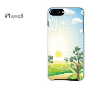 iPhone8 iphone8 ケース ハードカバー プリント ゆうパケ送料無料 クリア 【太陽299/i8-PM299】