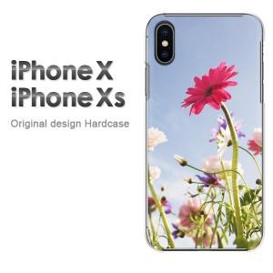 iPhoneX iphonex ケース ハードカバー プリント ゆうパケ送料無料 クリア 花・ガーベラ(ピンク)/ix-pc-new1542]