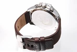 ディーゼル DZ4290 腕時計 メンズ DIESEL メガチーフ クロノグラフ ガンメタル/ブラウンレザー