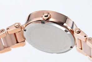 マイケルコース 腕時計 レディース パーカー ミニ ローズゴールド(Withクリスタルストーン)×ブラッシュ MK6110