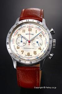ゾンネ SONNE 腕時計 メンズ ヒストリカル コレクション アイボリー HI003IV-BR