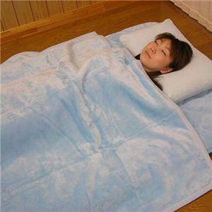 吸湿発熱掛け毛布(洗濯可) 約140×200cm ブルーS 送料込!