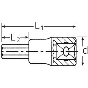 STAHLWILLE(スタビレー) 54A-5/16 (1/2SQ)インヘックスソケット (03450020)