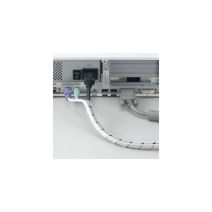(まとめ)まとめるチューブ 内径:6mm 白 1.5m ヤザワ FCT6W【×50セット】 送料込!