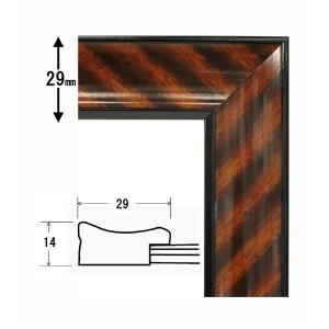 【木製賞状額】一般的賞状額・壁掛けひも ■0015 金ラック 六七(436×306mm)