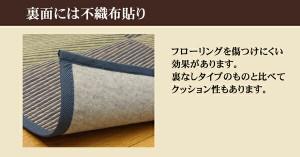 い草花ござカーペット 『DXパルコ裏張CP』 ブラウン 江戸間4.5畳(約261×261cm) (裏:不織布) 抗菌&防臭効果