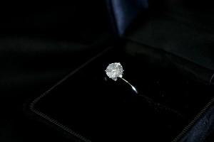 プラチナPt900 1.0ct一粒ダイヤリング 指輪 (鑑別書付き)  15号 送料無料!