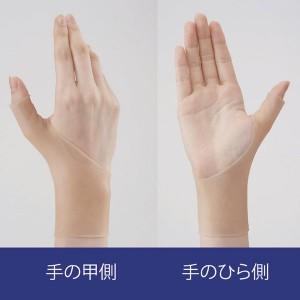 楽かる手首ゲルテクト(手首・親指サポーター) 【左右兼用2個組】 薄型密着タイプ 日本製