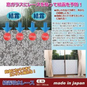 結露吸水レース 【花柄/90cm×90cmタイプ】 正方形 フリーカット