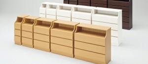 木製シンプルチェスト/収納タンス 【3段 幅28cm】 ナチュラル 収納棚付き 組み立て簡単 『CHESCA チェスカ』【代引不