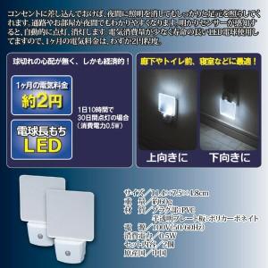 LEDナイトランプ(LED照明/LEDライト) 【2個組】 コンセント式