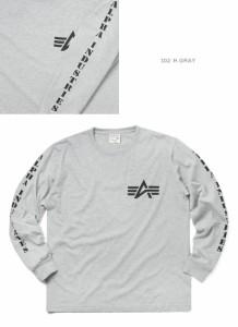 ALPHA アルファ TC1207 L/S サイド プリント Tシャツ ALPHA LOGO